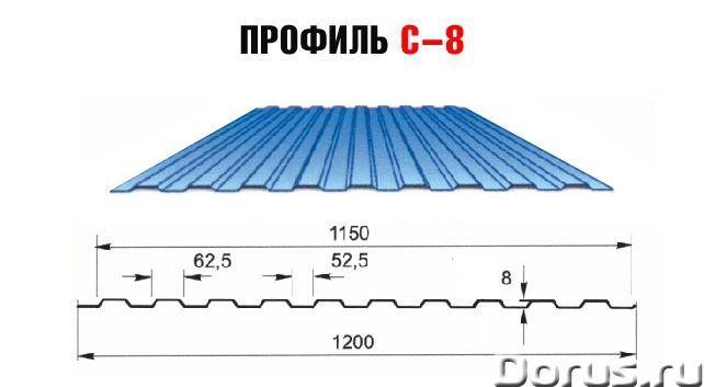 Профнастил для забора - Материалы для строительства - Продается профнастил для забора С-8 РЕ 0,4. Ра..., фото 1